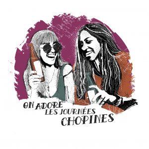 Affiche Vin Humour 30x30 On adore les journées Chopines
