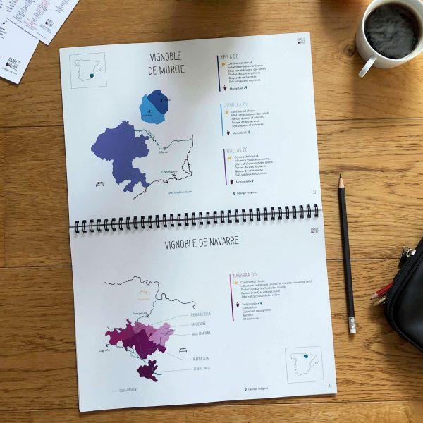 Book Pratique Le Vin Cahier Cartes des vins ESPAGNE