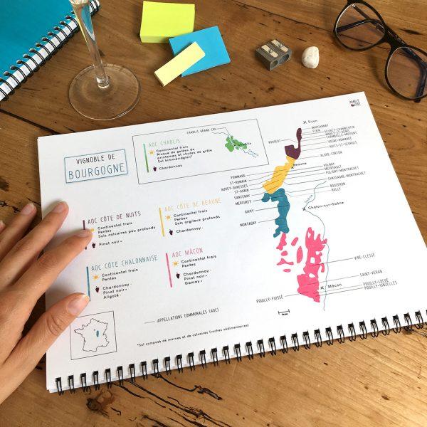 Book Pratique Le Vin Cahier Cartes des vins FRANCE