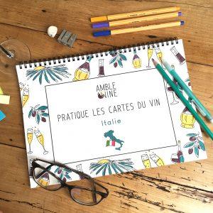 Book Pratique Le Vin Cahier Cartes des vins ITALIE