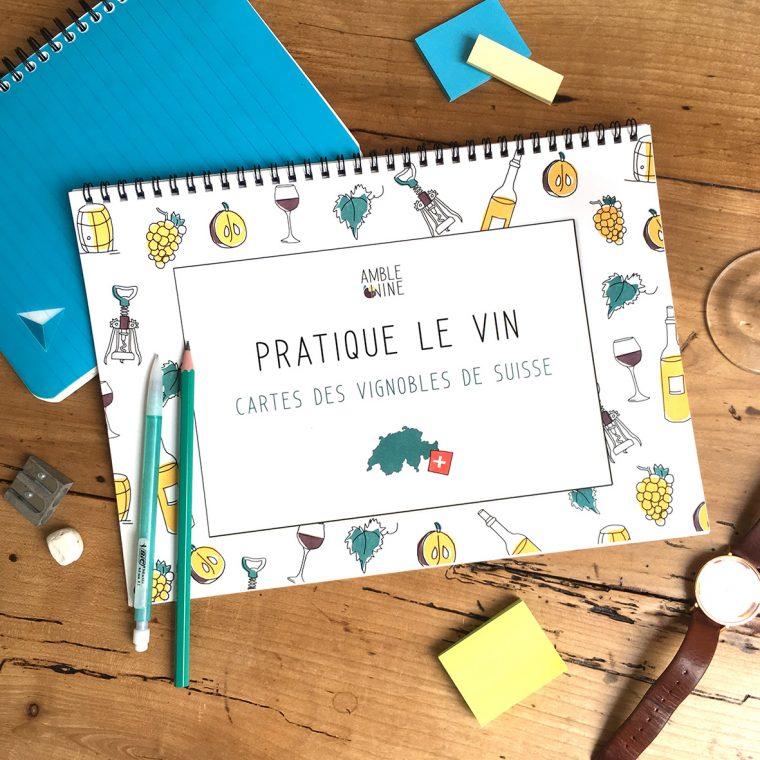Book Pratique Le Vin Cahier Cartes des vins SUISSE