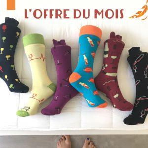 Offre du Mois Chaussettes thème vin Sommelier Socks