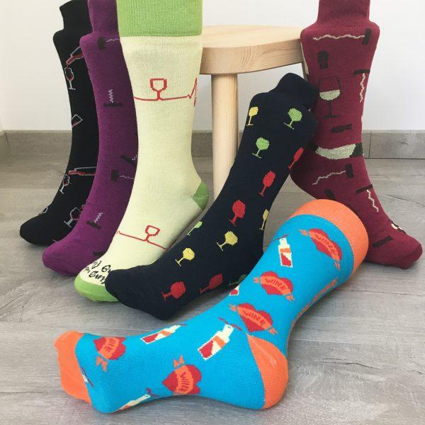 Collection de chaussettes thème vin Sommelier Socks