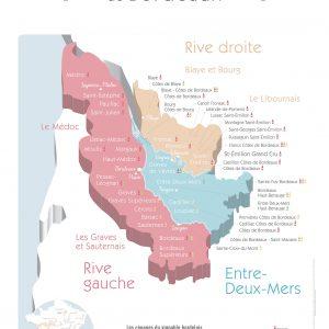 Carte Bordeaux Vins GEOVITIS DECOUVERTE Apaisante 50x70